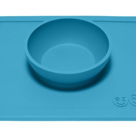 EZPZ - Силиконовая тарелка Happy Bowl, цвет Blue
