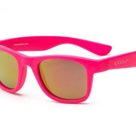Детские солнцезащитные очки Koolsun Wawe неоново-розовые (Размер 1+)  (арт. KS-WANP001)