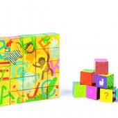 Кубики картонные Janod Алфавит