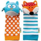 bbluv -Duo-Розвивающие носки с погремушкой Сова и Лисица