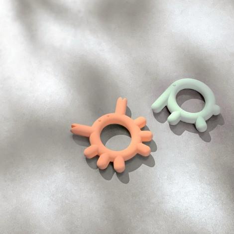 Силиконовый прорезыватель BORRN Лягушка, цвет Зелёный  (арт. C0209E)