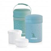 Термос пищевой с контейнерами THERMETIC голубой 700ML+ термосумка MINILAND Baby