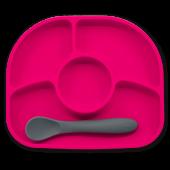 Силиконовая тарелка на присоске и ложка bbluv™ Yümi (B0153-P)
