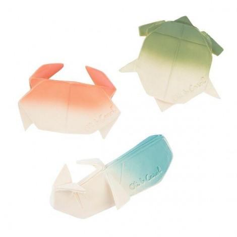 """Натуральный прорезыватель для зубов """"Краб Оригами"""" Oli&Carol  (арт. L-H2ORIGAMICRAB-UNIT)"""