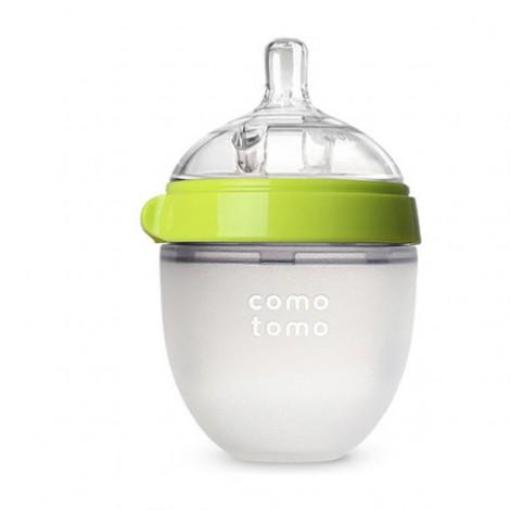 Силиконовая антиколиковая бутылочка Comotomo 150ml (green)