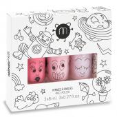 Набор из трех детских лаков для ногтей COOKIE BELLA POLLY, Nailmatic