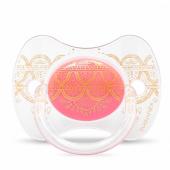 Пустышка силиконовая Suavinex Couture, 4-18 мес., розовый