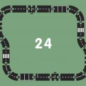"""Гибкая автомобильная трасса """"Шоссе"""" (24 дорожных частей, длина 376 см) WAYTOPLAY"""