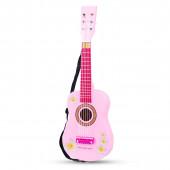 Детская Гитара New Classic Toys розовая с цветами