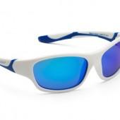 Детские солнцезащитные очки Koolsun Sport бело-голубые (Размер 3+)
