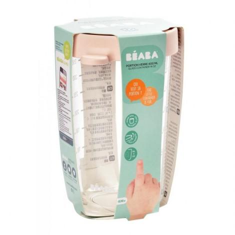 Стеклянный контейнер для хранения 400 мл, розовый - Beaba  (арт. 912693)