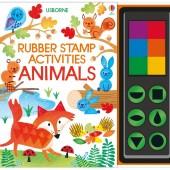 Интерактивная обучающая детская книга Животные Rubber Stamp Activities: Animals, Usborne™