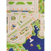 Ковер IVI 3D Play Carpets Mini City 134х180 см