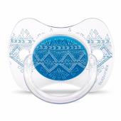 Пустышка силиконовая Suavinex Couture, 4-18 мес., синий