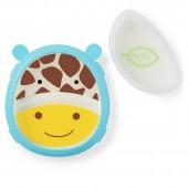 Тарелка-миска Zoo Smart Serve Plate Жираф SKIP HOP