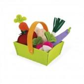 Игровой набор Janod Корзина с овощами 8 элементов
