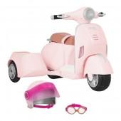 Транспорт для кукол Our Generation Скутер с боковой корзиной