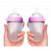 Набор антиколиковых бутылочек Comotomo по 250мл (Pink)