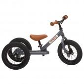 Балансирующий велосипед трехколесный, цвет серый Trybike