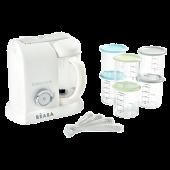 Блендер-пароварка Beaba Babycook цвет White silver 30 Years Universary  + 6 контейнеров и 4 ложки