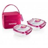 Термосумка с 2 контейнерами Hermifresh розовая MINILAND Baby