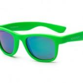 Детские солнцезащитные очки Koolsun Wawe неоново-зеленые (Размер 1+)
