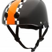 Велосипедный шлем 47 - 53см, черный с оранжевым Coconut Trybike