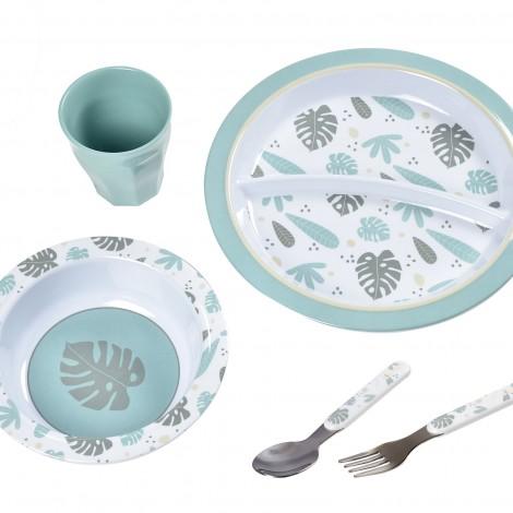 Набор посуды из меламина Beaba цвет Синий  (арт. 913459)