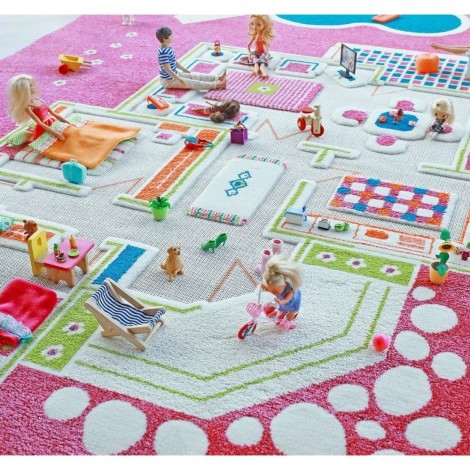 Ковер IVI 3D Play Carpets Playhouse Pink 134х200 см