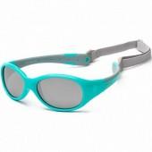 Детские солнцезащитные очки Koolsun Flex бирюзово-серые (Размер 0+)