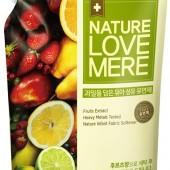 """Кондиционер-Ополаскиватель c экстрактом фруктов для стирки детской одежды """"Fruit Baby"""" Nature Love Mere 1.3 л, Корея"""