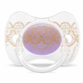 Пустышка симметричная Suavinex Couture, 0-4 мес., фиолетовый
