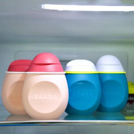 Набор из 2-х силиконовых контейнеров ( поильник + контейнер) - розовый  (арт. 912625)