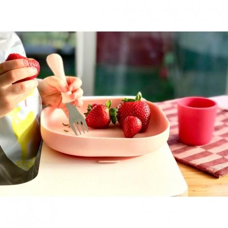 Набор силиконовой посуды Beaba 4 предмета - pink  (арт. 913429)
