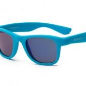 Детские солнцезащитные очки Koolsun Wawe неоново-голубые (Размер 3+)