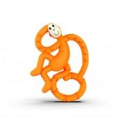 Игрушка-прорезыватель Matchstick Monkey Маленькая Танцующая Обезьянка (цвет оранжевый, 10 см)