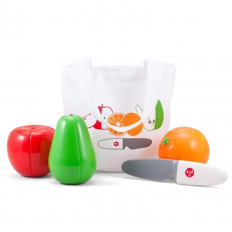 """Магнитный игровой набор """"Фрукты"""" (3 фрукта+нож)  (арт. 10349)"""